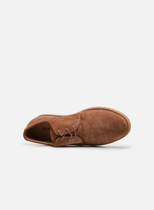 Zapatos con cordones Kickers Tumperys Marrón vista lateral izquierda