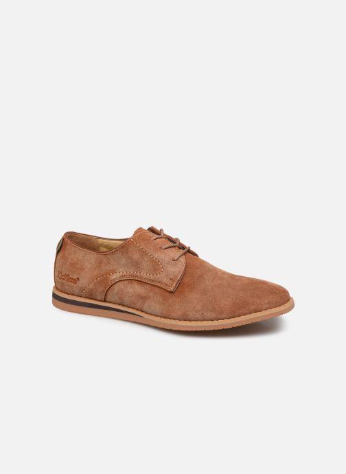 Zapatos con cordones Kickers Tumperys Marrón vista de detalle / par
