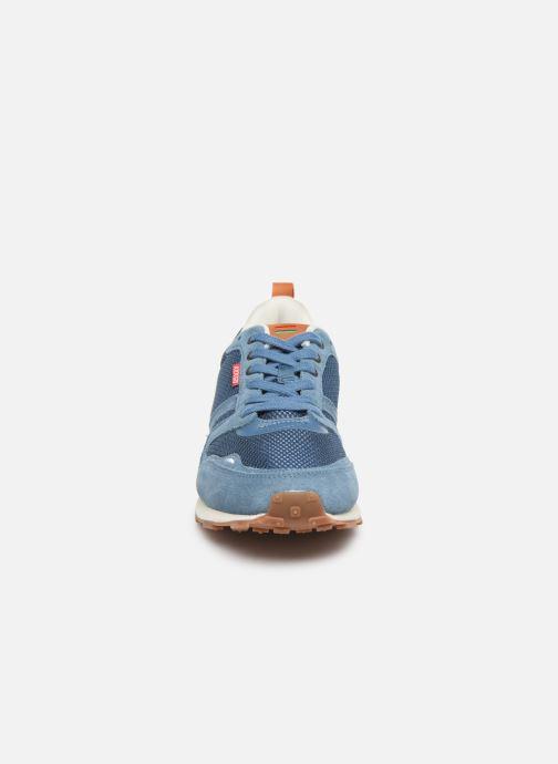 Baskets Kickers Portland Bleu vue portées chaussures