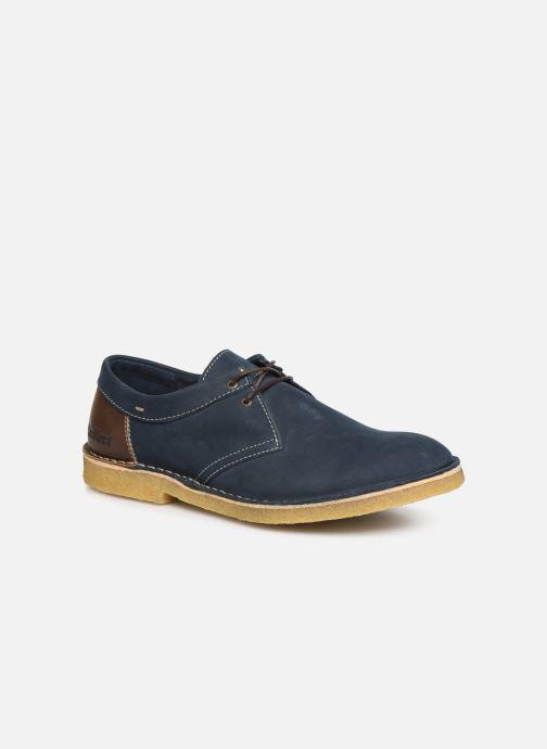Snøresko Kickers Cluzo Blå detaljeret billede af skoene