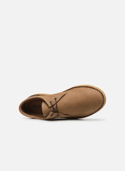 Zapatos con cordones Kickers Cluzo Marrón vista lateral izquierda