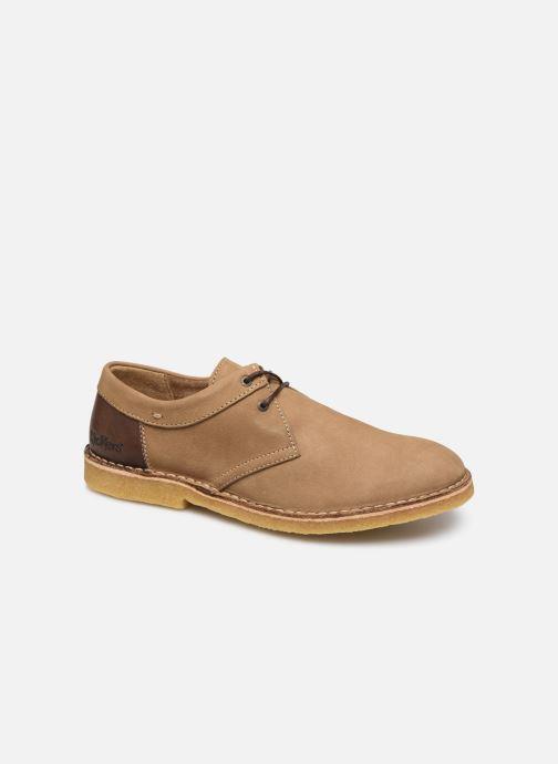 Zapatos con cordones Kickers Cluzo Marrón vista de detalle / par
