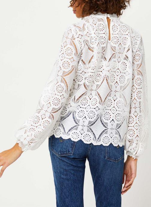 Vêtements Vila VIRASMI NEW TOP Blanc vue portées chaussures