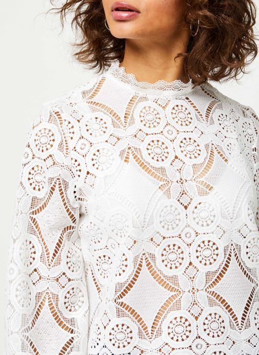 Vêtements Vila VIRASMI NEW TOP Blanc vue face