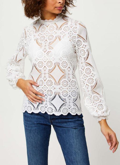 Vêtements Vila VIRASMI NEW TOP Blanc vue droite