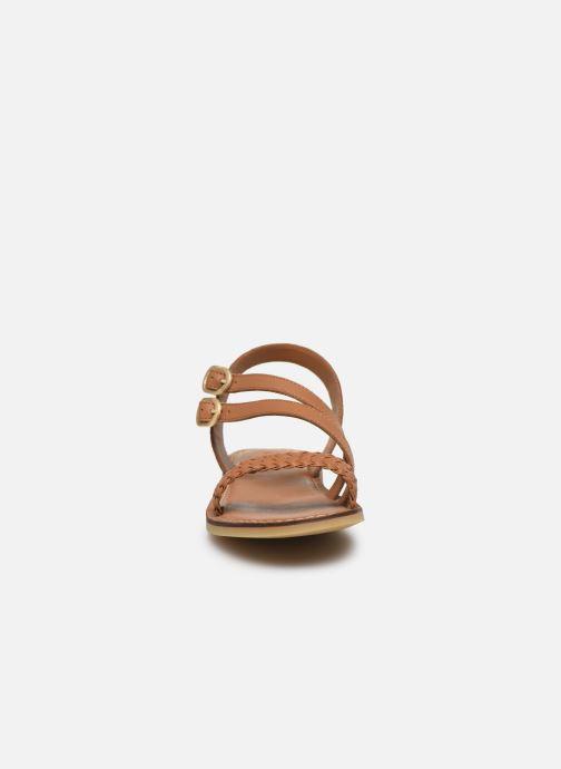 Sandales et nu-pieds Adolie Lazar Megh Marron vue portées chaussures
