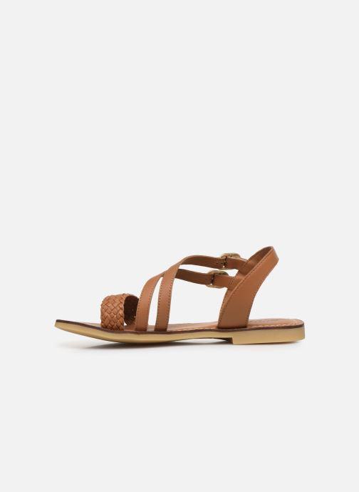 Sandales et nu-pieds Adolie Lazar Megh Marron vue face