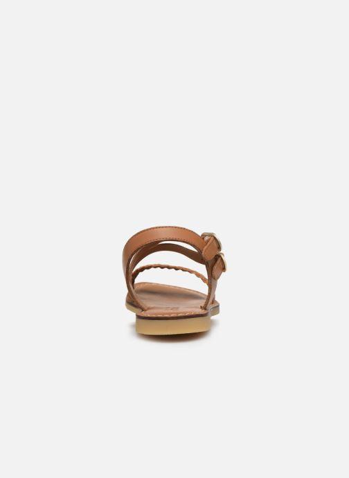 Sandales et nu-pieds Adolie Lazar Megh Marron vue droite