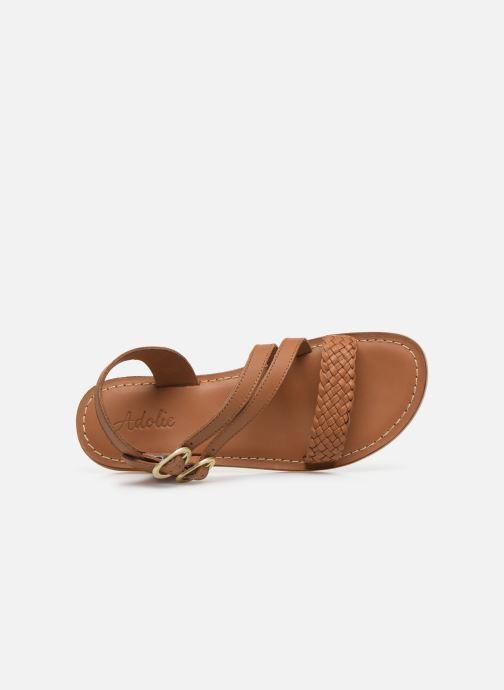 Sandales et nu-pieds Adolie Lazar Megh Marron vue gauche