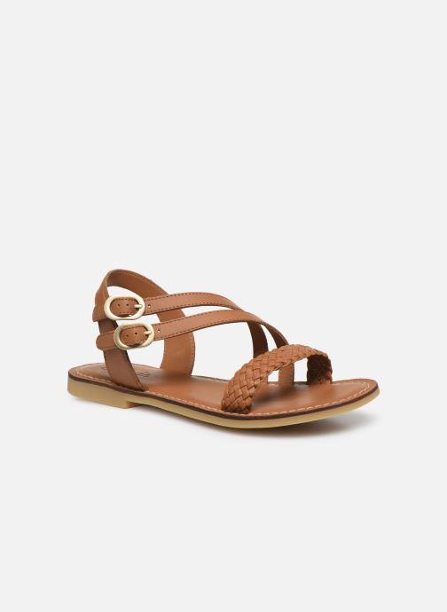 Sandales et nu-pieds Adolie Lazar Megh Marron vue détail/paire
