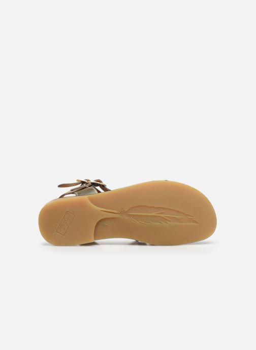 Sandales et nu-pieds Adolie Lazar Megh Argent vue haut
