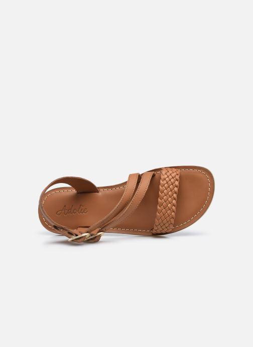 Sandali e scarpe aperte Adolie Lazar Megh Marrone immagine sinistra