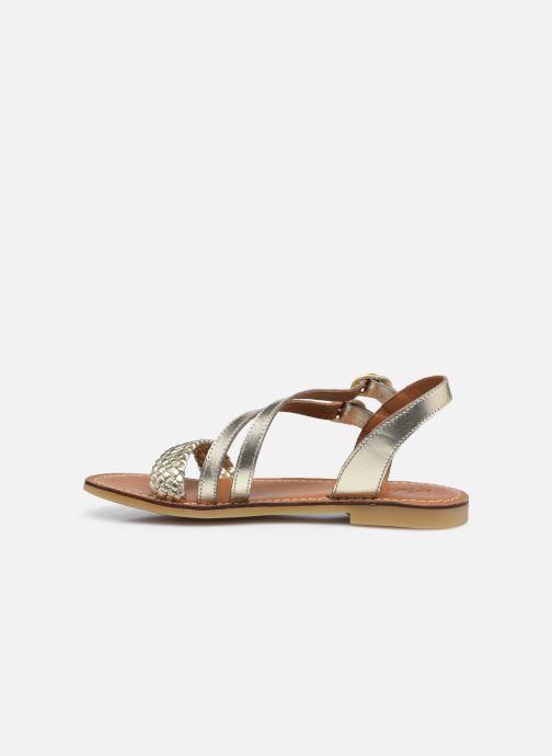 Sandales et nu-pieds Adolie Lazar Megh Or et bronze vue face