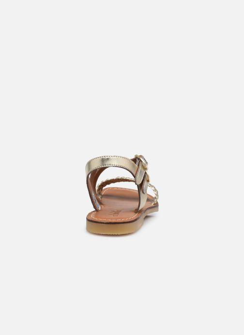 Sandales et nu-pieds Adolie Lazar Megh Or et bronze vue droite