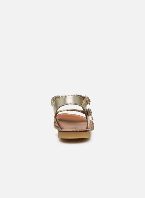 Sandales et nu-pieds Adolie Lazar Bi Stripes Or et bronze vue droite
