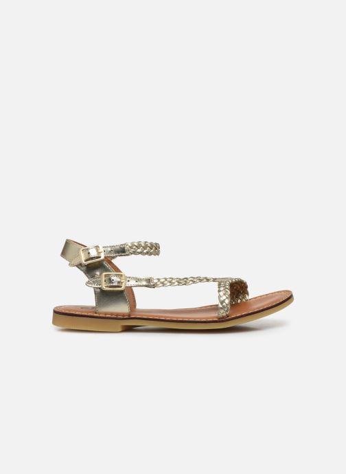 Sandales et nu-pieds Adolie Lazar Bi Stripes Or et bronze vue derrière