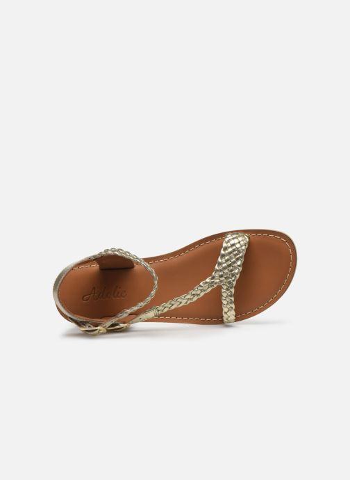 Sandales et nu-pieds Adolie Lazar Bi Stripes Or et bronze vue gauche