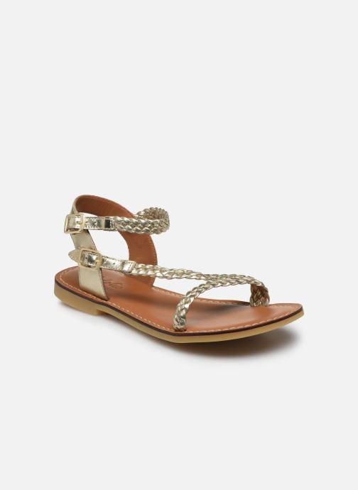 Sandales et nu-pieds Adolie Lazar Bi Stripes Or et bronze vue détail/paire