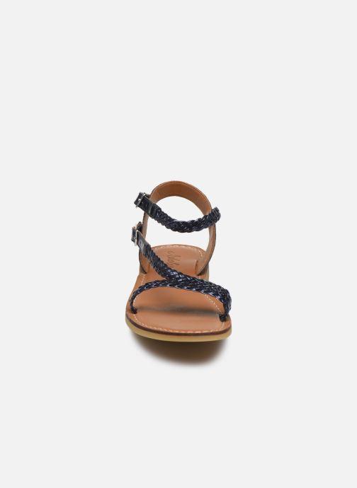 Sandales et nu-pieds Adolie Lazar Bi Stripes Bleu vue portées chaussures