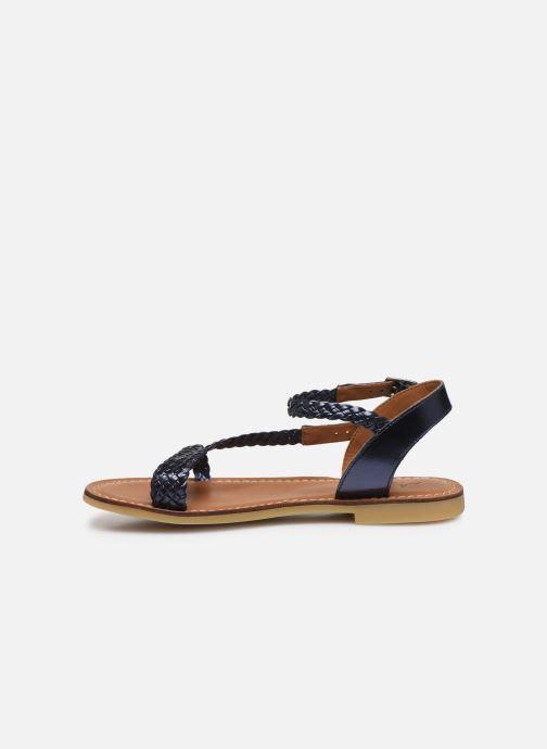 Sandali e scarpe aperte Adolie Lazar Bi Stripes Azzurro immagine frontale