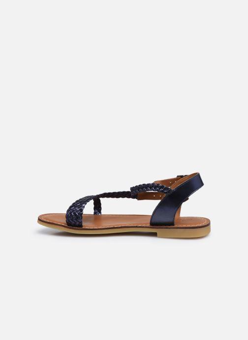 Sandales et nu-pieds Adolie Lazar Bi Stripes Bleu vue face