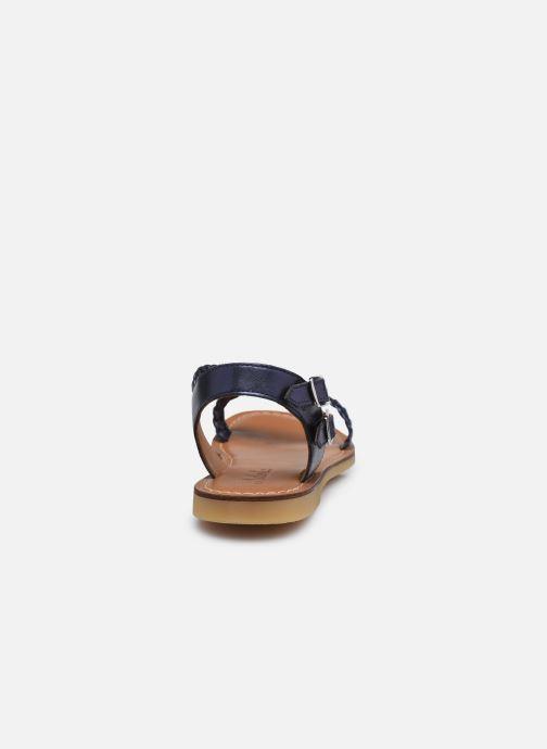 Sandales et nu-pieds Adolie Lazar Bi Stripes Bleu vue droite