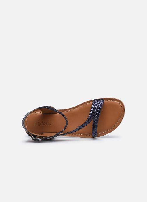 Sandales et nu-pieds Adolie Lazar Bi Stripes Bleu vue gauche