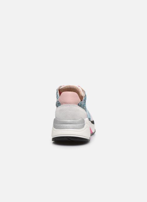 Sneakers Acebo's Basket 9800LU Zilver rechts