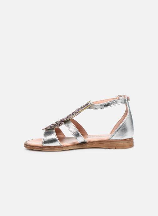 Sandales et nu-pieds Acebo's Sandale 5360 Argent vue face