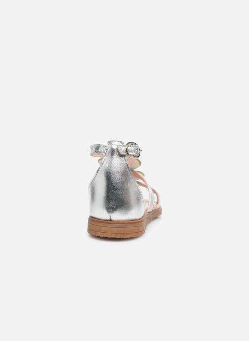 Sandales et nu-pieds Acebo's Sandale 5360 Argent vue droite