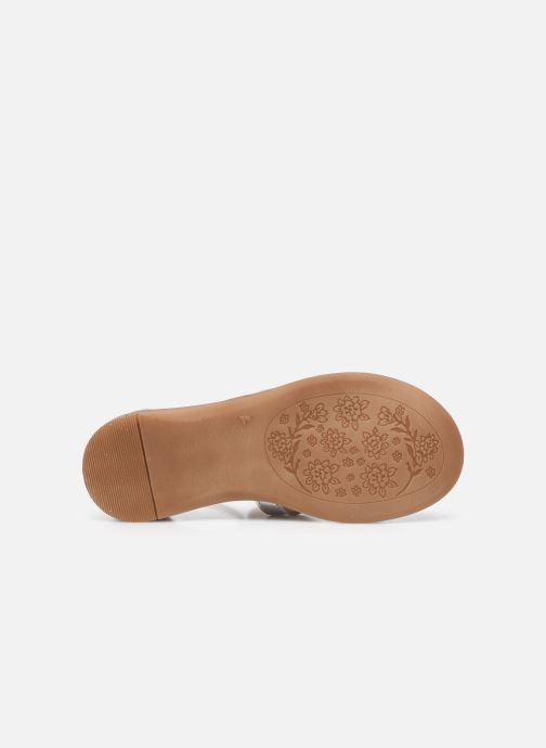 Sandales et nu-pieds Acebo's Sandale 5360 Argent vue haut
