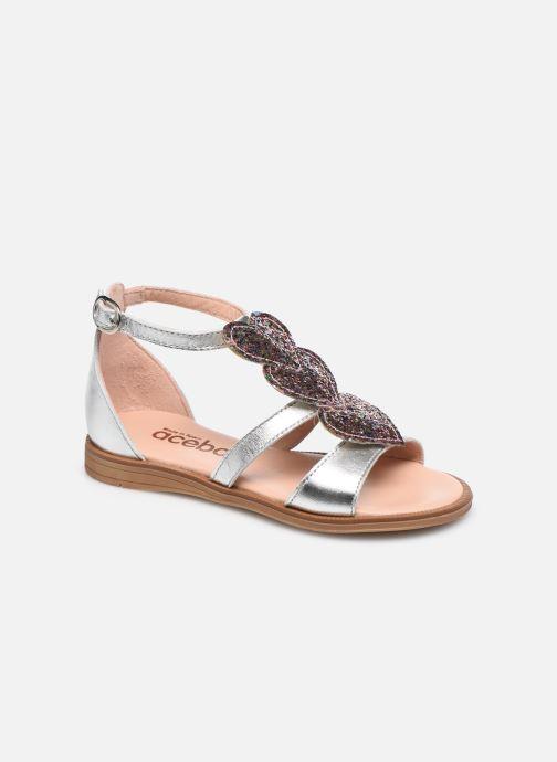 Sandales et nu-pieds Acebo's Sandale 5360 Argent vue détail/paire