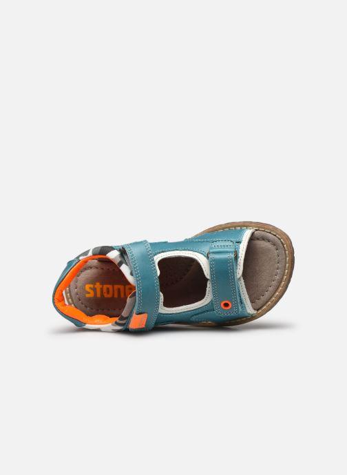 Sandales et nu-pieds Stones and Bones Denos Bleu vue gauche