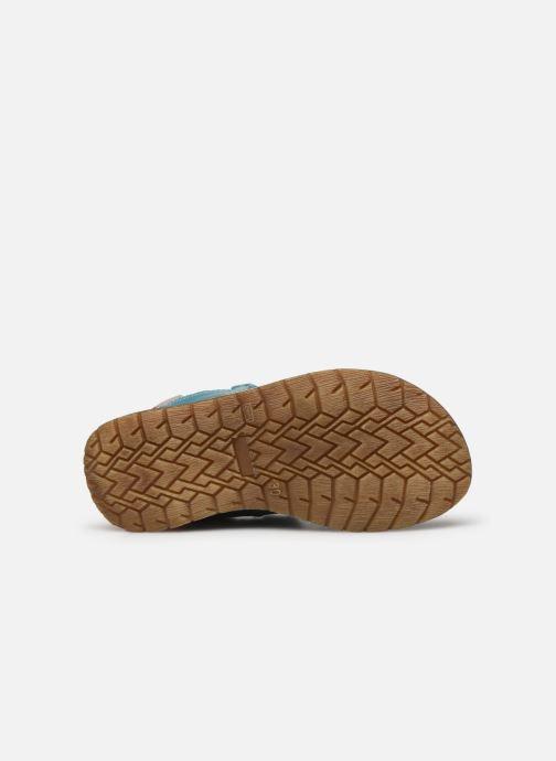 Sandales et nu-pieds Stones and Bones Denos Bleu vue haut