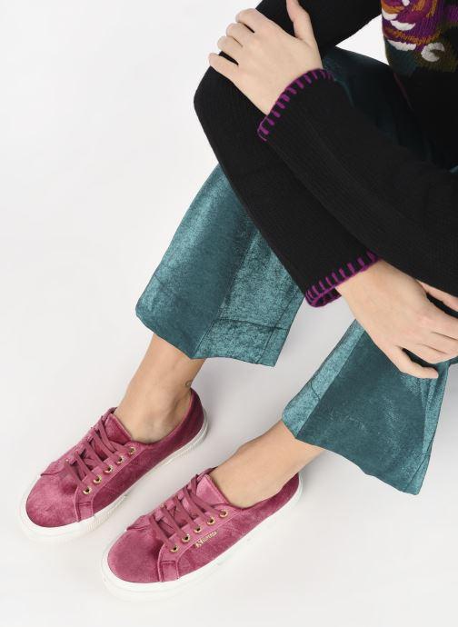 Sneakers Superga 2750 Velvet Chenille W Rosa immagine dal basso