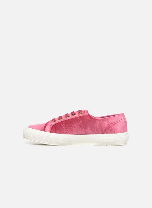 Sneakers Superga 2750 Velvet Chenille W Rosa immagine frontale