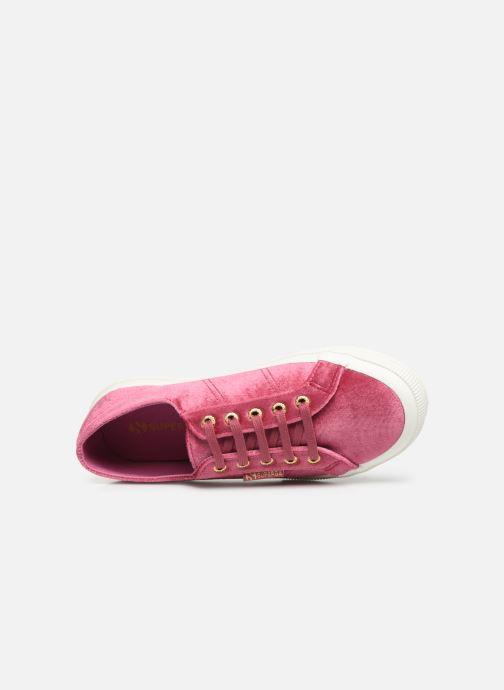 Sneakers Superga 2750 Velvet Chenille W Rosa immagine sinistra