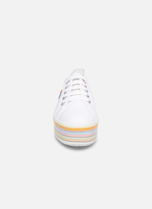 Baskets Superga 2790 Multicolor Cot W Blanc vue portées chaussures