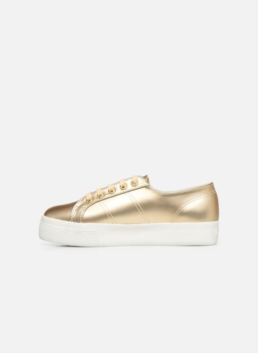 Baskets Superga 2730 Synt Pearl DW Or et bronze vue face