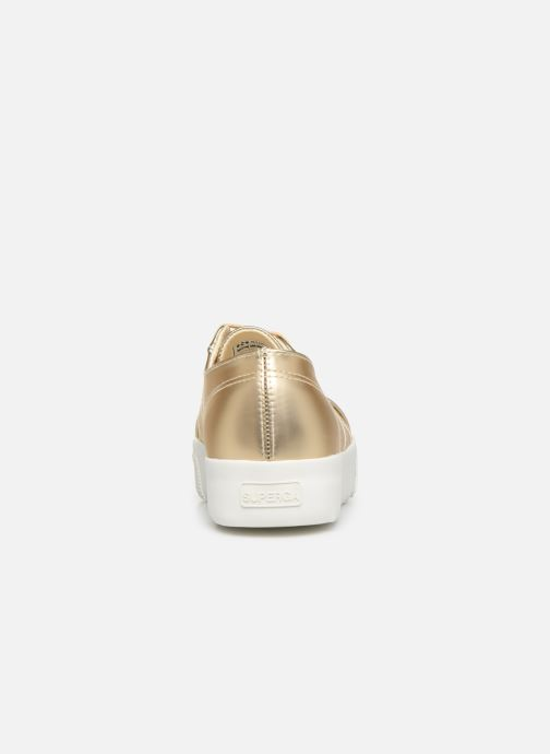 Trainers Superga 2730 Synt Pearl DW Bronze and Gold view from the right