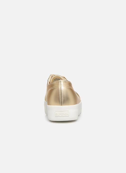 Baskets Superga 2730 Synt Pearl DW Or et bronze vue droite
