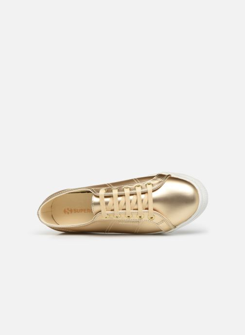 Baskets Superga 2730 Synt Pearl DW Or et bronze vue gauche