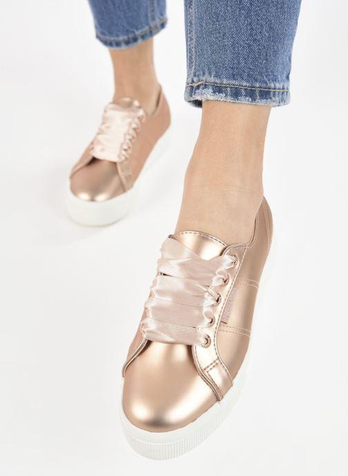 Sneaker Superga 2730 Synt Pearl DW rosa ansicht von unten / tasche getragen