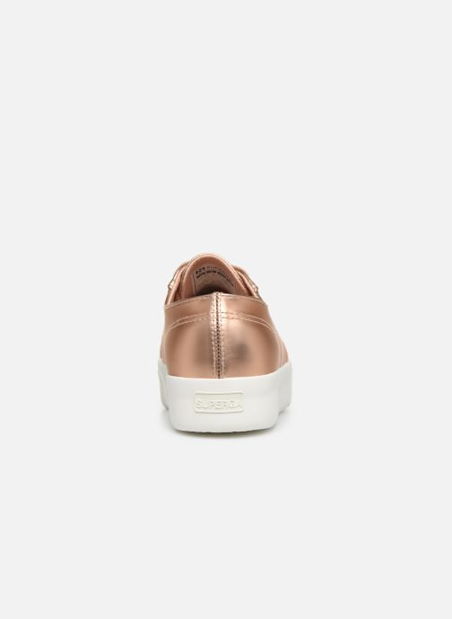 Baskets Superga 2730 Synt Pearl DW Rose vue droite