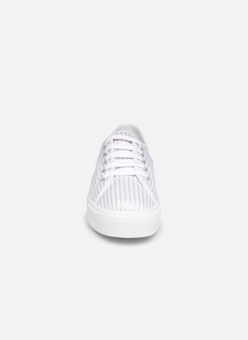 Baskets Superga 2730 Cot Lame W Blanc vue portées chaussures