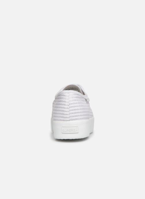 Baskets Superga 2730 Cot Lame W Blanc vue droite