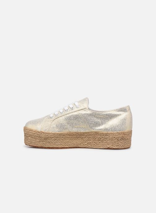 Sneakers Superga 2790 Jersey Frost Lame W Blauw voorkant