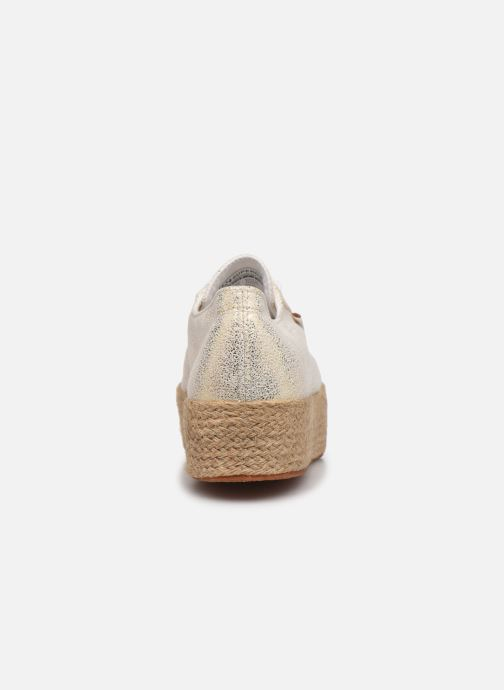 Sneakers Superga 2790 Jersey Frost Lame W Blauw rechts