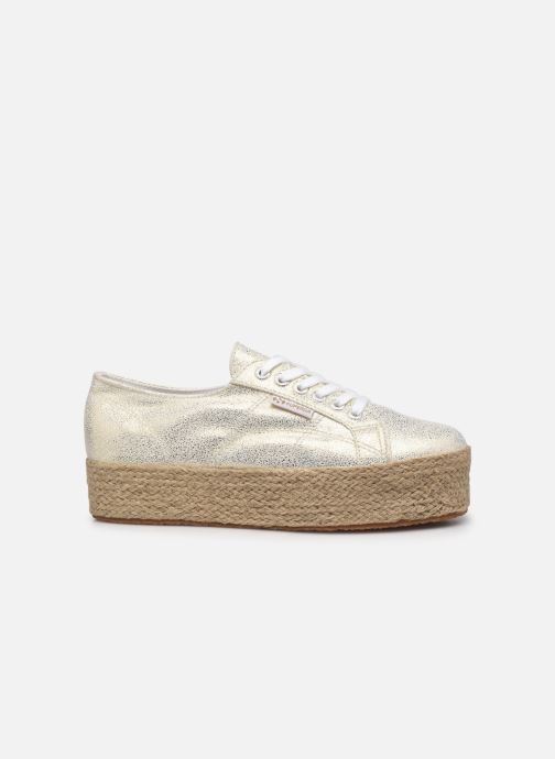 Sneakers Superga 2790 Jersey Frost Lame W Blauw achterkant