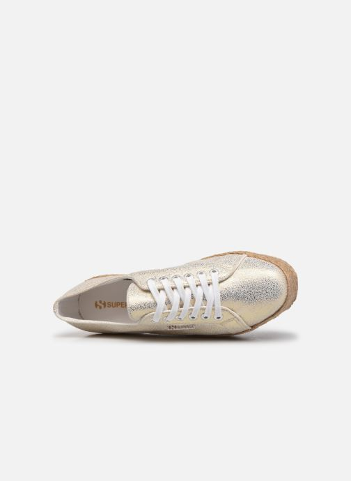 Sneakers Superga 2790 Jersey Frost Lame W Blauw links